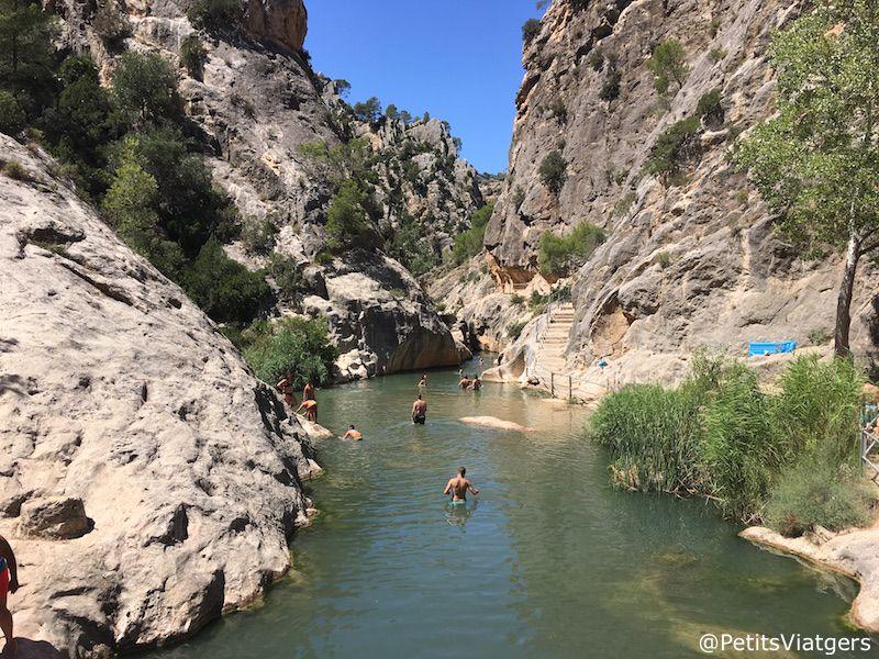 piscinas naturales en tarragona la fontcalda petits